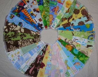 36 Cloth Baby Wipes, SELECT Your Own Designs, Starter Set, 36 Single or 18 Double Ply, Flannel Wipes