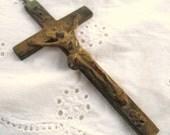 Petite Vintage Crucifix