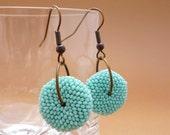 Beaded Wheels Earrings - Light Turquoise