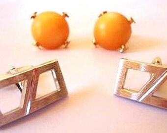 Cuff Links.Two Pairs. 50s