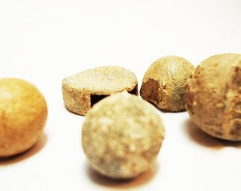 Antique Stone and Metal Balls.Pieces dated around 1900s - Found in Old Country  Manor House in Spain