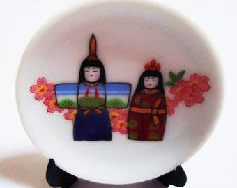 Japanese Mini Deco Dish.70s.Ohinasama