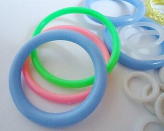 Plastic Neon Rings (Hoops) 70s