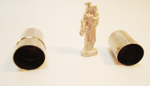 Virgin Mary Figurine. In a Tube.Germany. 40s