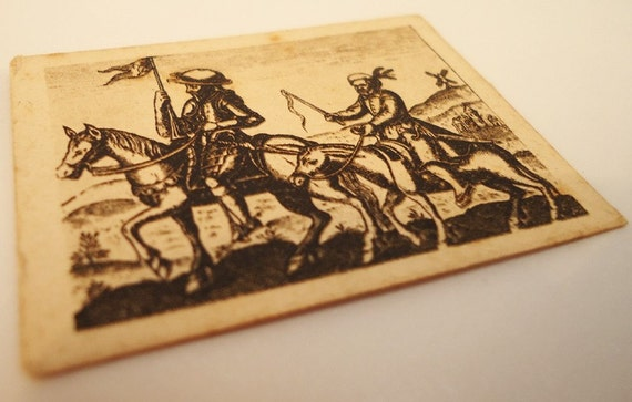 Don Quixote and Sancho Panza Miniature Print