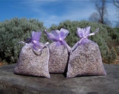 Lavender Dryer Sachets - Lovely Scented Laundry - Set of 3 Reusable