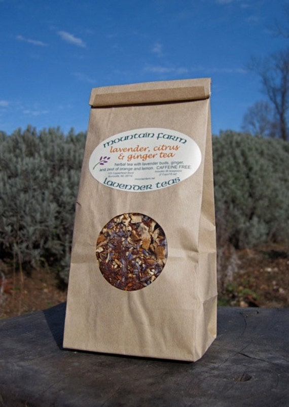 Lavender, Citrus & Ginger Herbal Tea - Zesty Delicious - Tasty With a Bit of Spice -  Bulk Bag