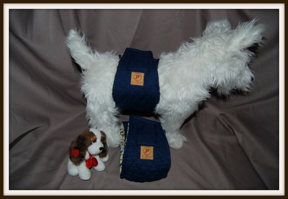 "Clearance Priced. Fur Budy Products No Pee Belly Band Diaper for Boys 5"" Wide, 17 -19"" waist"
