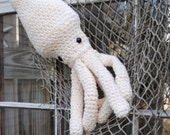 Giant Woolie Squid Crocheted Plush