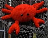 Woolie Crab Hand Crocheted Plush