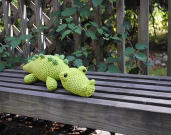 Woolie Alligator Hand Crocheted Plush - Large