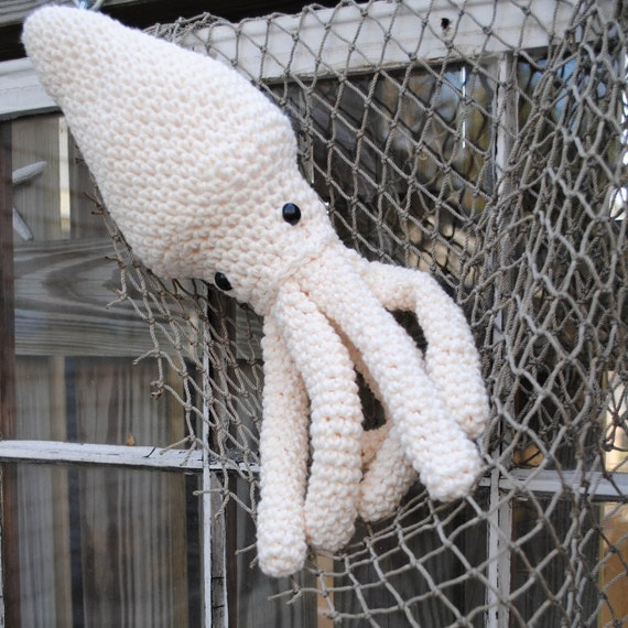 Giant Woolie Squid Crocheted Plush