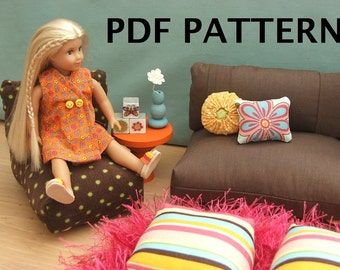 Fits Mini Doll American Girl Furniture Pattern 6.5 inch PDF