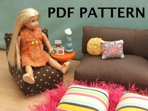 Fits Mini Doll American Girl Furniture Pattern 6.5 inch PDF