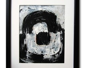 Nothing Missing / 8x10 / Original Contemporary Abstract Painting / By Edmond Lacoste