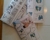 Calvin and Hobbes upcycled journaletter set