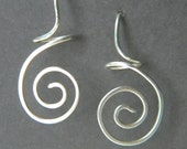 Sterlling Silver Earrings - Dangle Swirl