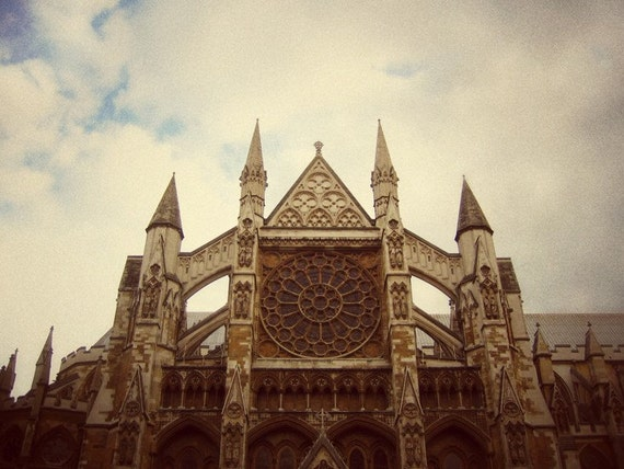 Westminster Abbey - Church Spires and Stained Glass Window Art - London Travel Decor - British Home Decor - Fine Art Photograph