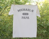 Gift for Grandpa, Pa Pa, Pops//Shirt with Personal Established Date and Child's name