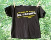 Personalized Big Brother Star Wars Inspired Announcement Tee - Short Sleeve