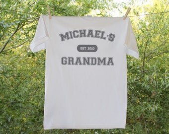 Grandma Personalized Established In Shirt - Established in...