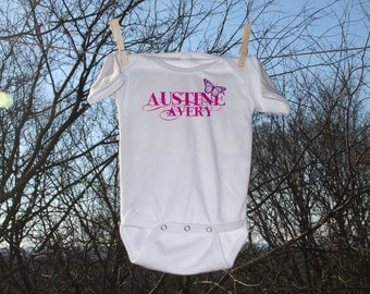 Butterfly with Personalization // Infant Bodysuit