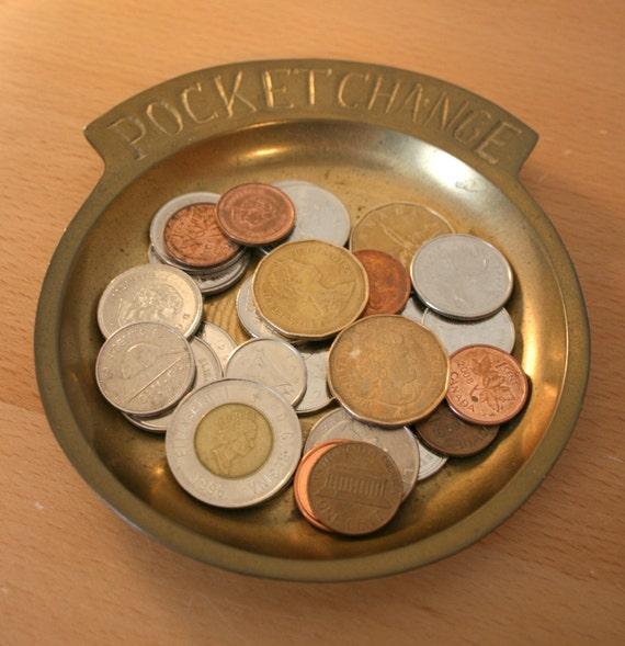 Brass Pocket Change Collector Holder
