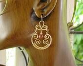 Gold Chandelier Earrings,Gemstone Chandelier Earrings, Quartz Chandelier Earrings,Wire Wrapped Chandelier Earrings,Chakra,Birthstone
