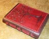 Tree Leather Journal, Fiery Tree of Life,  Journal, Diary, or Sketchbook