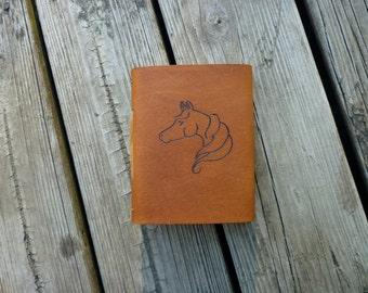 Horse leather journal, Diary, Notebook, Sketchbook, or Travel Journal