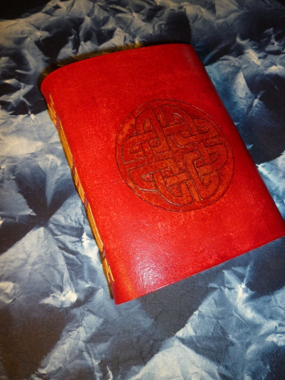 Red Celtic journal, diary or sketchbook