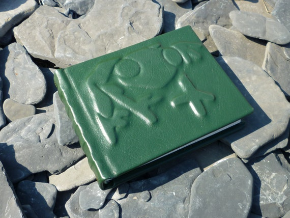 Green Leather Journal, The Frog Prince, Journal Diary, or Sketchbook