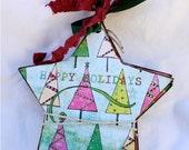 Holiday Star Chipboard Scrapbook Album
