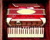 Vintage Italian Red Capri Accordion
