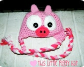 This Little Piggy Hat, 3-6 month size ready to ship, all others made to order