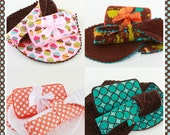 Personalized Burp Cloth(Contoured),Changing Pad(Larger Size), Wipes Case Diaper Bag Gift Set
