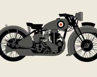 GREY 1930 MOTORCYCLE
