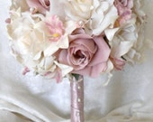 CUSTOM LISTING mauve wedding flowers