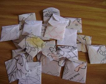 recycled mini envelopes