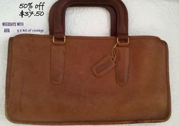 Authentic COACH Vintage New York City Slim Satchel Compact Style 9425