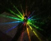 PREPARE 4 PLAYA )*( Hand-Painted Solar LED Rainbow STaRBURST Path Lights (BRiGHTER) 4 Spring Landscaping, Patio, Dads, Burningman, Glamping