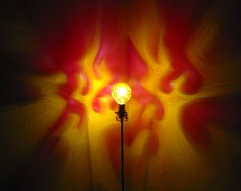 Artistic Hand Painted Light Bulbs And Solar Lights By MoodLights - Red light bulb in bedroom