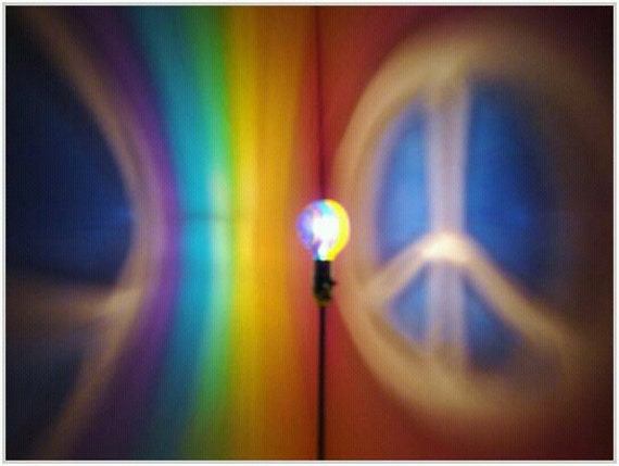 the original handpainted rainbow peace sign by moodlights on etsy. Black Bedroom Furniture Sets. Home Design Ideas