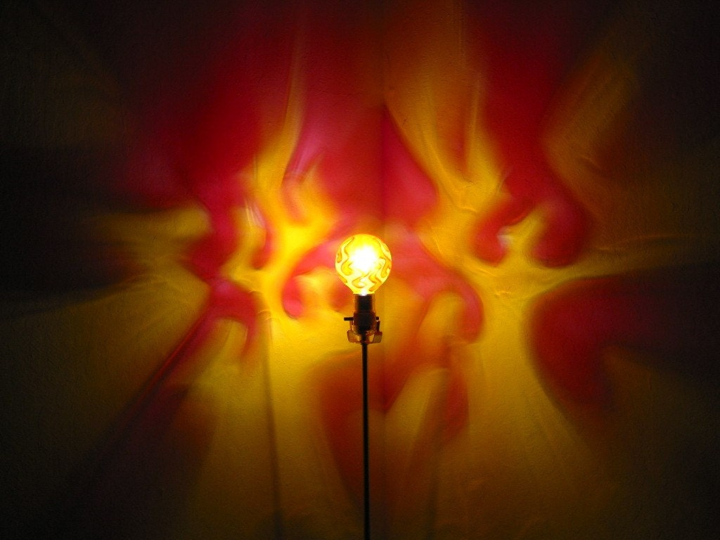 Flames Red Yellow Painted Moodlight Bulb 4 Holiday Party Gift
