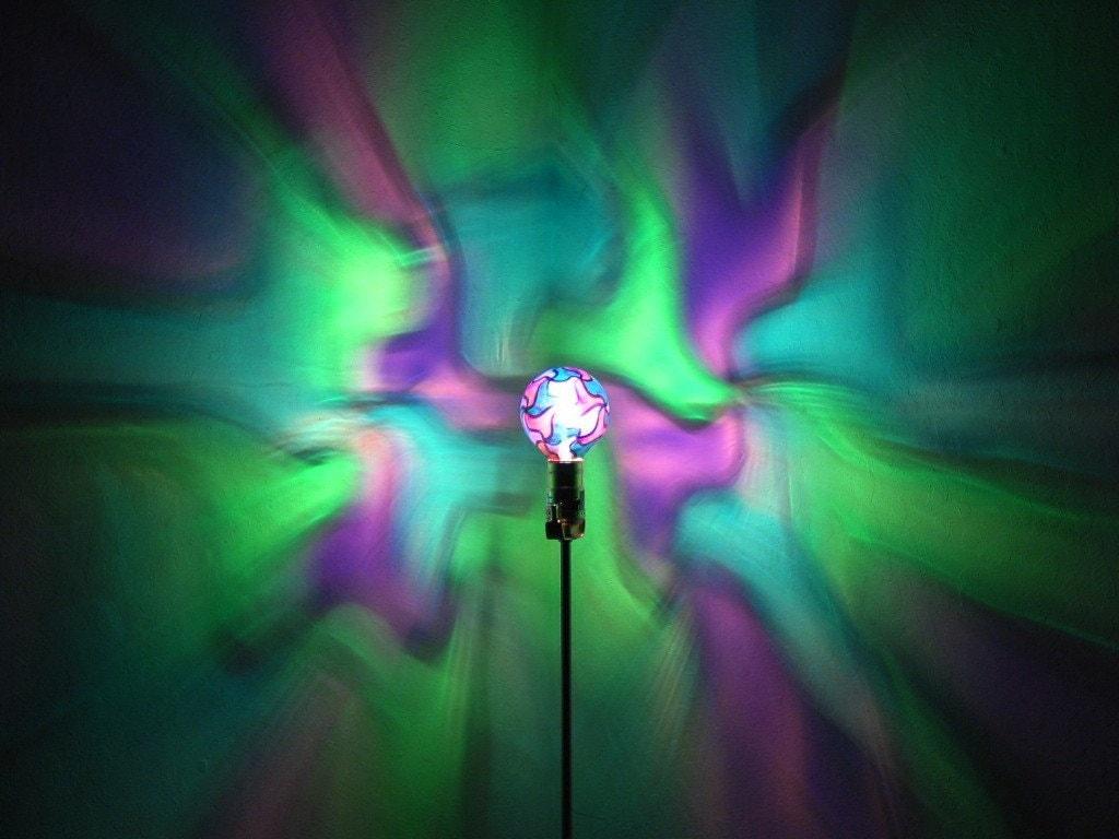 Green/Blue/Purple Mosaic Painted MoodLight Bulb 4 Christmas