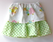 SAMPLE SALE - Pretty Posies - 2-3 T Double-Layered Skirt