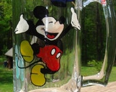 Beer Mug Mickey Mouse Painted Graduation Glass Mouse, Beer, Gift