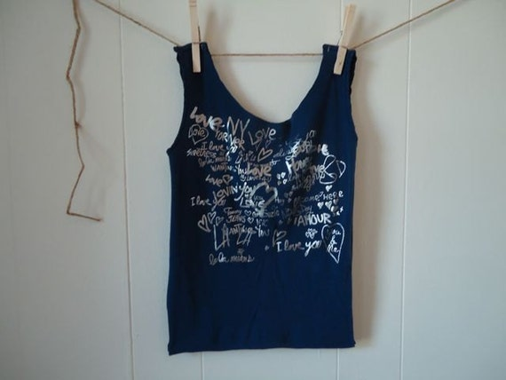 Recycled Love t-shirt Bag, Holiday Special, Bundle 3 or more bags save 1.00 per bag, get details in description