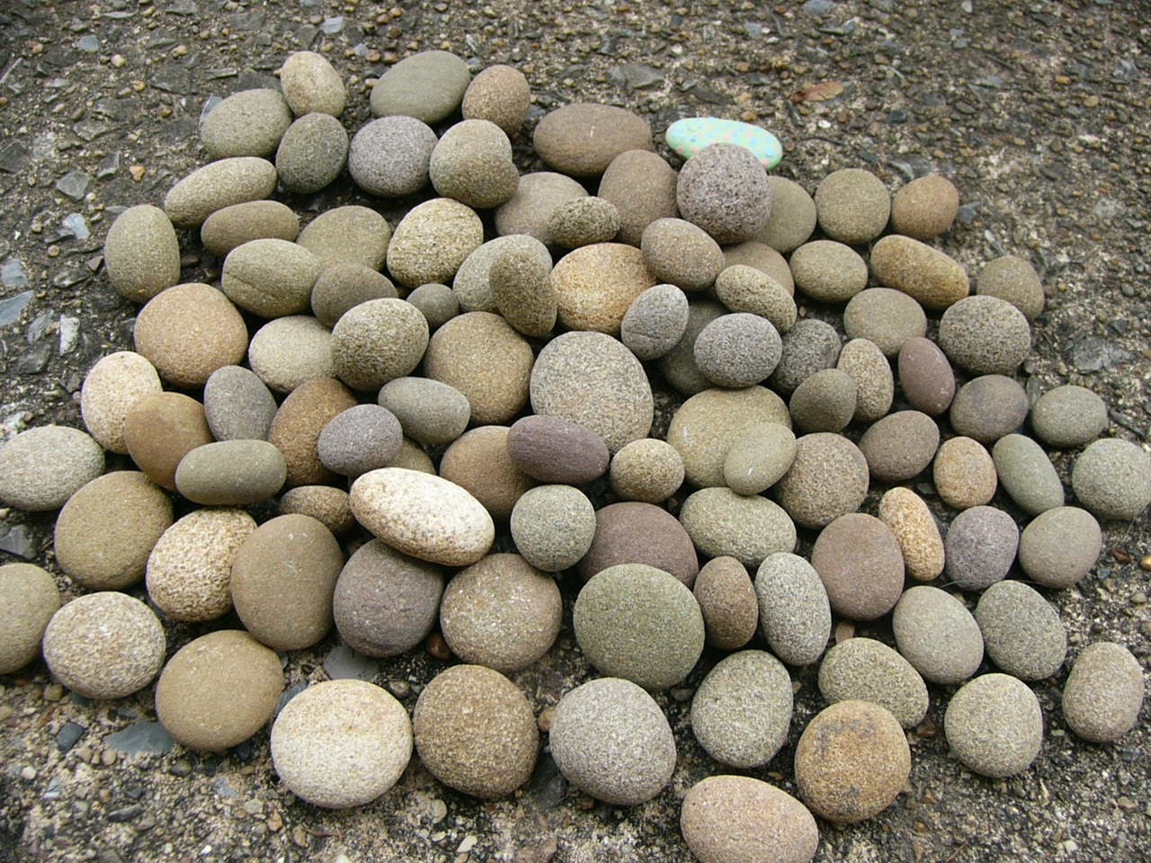 Chunky rounded small river rocks 100 natural creek rocks lot for Small river pebbles