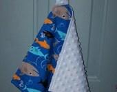 Sharks Loop Lovey/Security Blanket